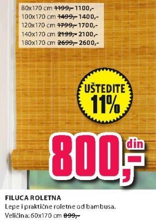 Roletna Filuca 80x170