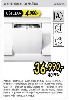 Mašina za pranje posuđa Adg 6500