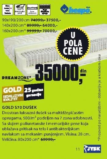 Dušek Gold S70 140x200