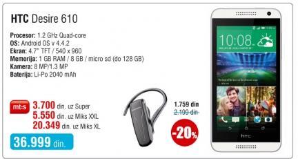 Mobilni telefon Desire 610