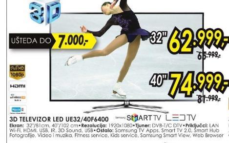 Televizor LED UE-32F6400