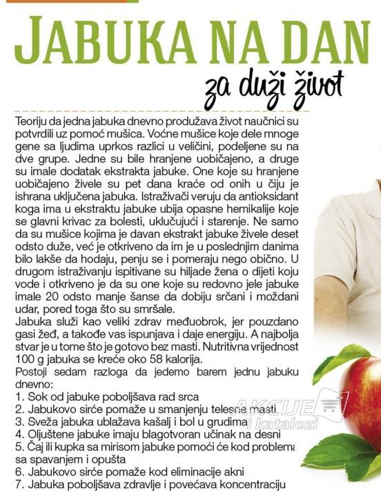 Jabuka na dan za duži život
