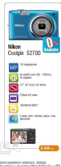Fotoaparat S2700