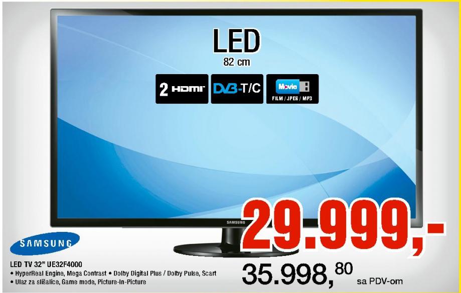 """LED Tv 32"""" UE32F4000"""