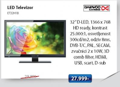 LED Televizor ET32H1B