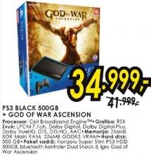 Konzola PS3 Black 500GB God Of War Ascension