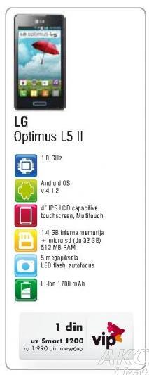Mobilni telefon Optimus L5 II