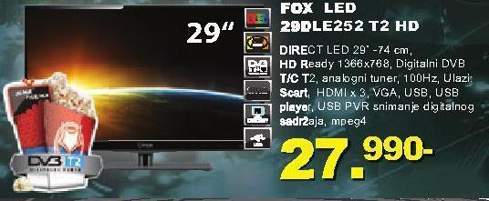 """Televizor LED 29"""" 29dle252 T2 HD"""