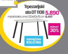 Trpezarijski sto DT 1108