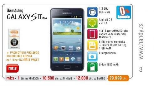 Mobilni telefon  I9105 Galaxy SII Plus