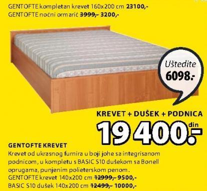 Krevet Gentofte 140x200cm