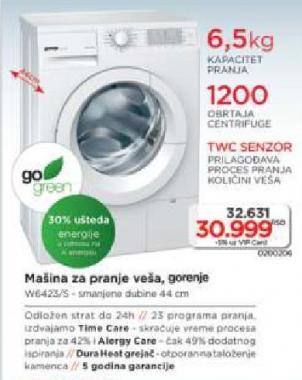 Mašina Za Pranje Veša W6423/S