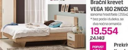 Bračni krevet VEGA 160 2NO2F