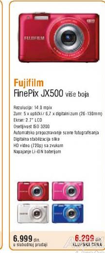 Digitalni fotoaparat FinePix JX500