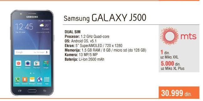 Mobilni telefon  Galaxy J500