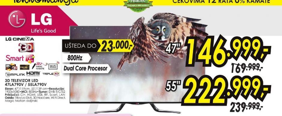 Televizor LED  55LA790V