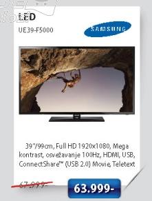 LED Televizor UE39-F5000