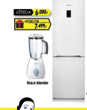 Samsung frižider kombinovani RB-31FERNDWW + poklo Braun blender vrednosti 7499,00dinara