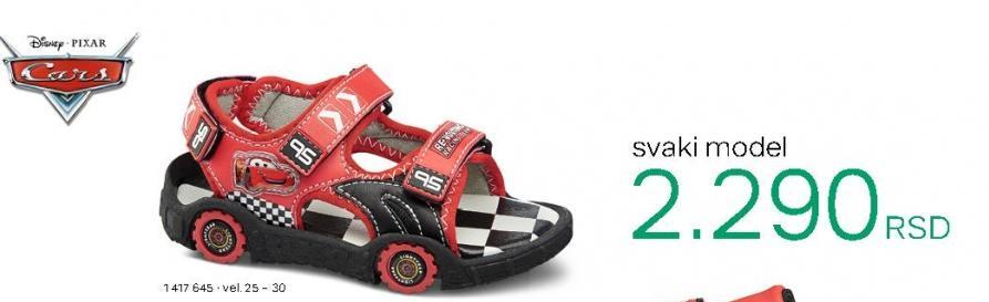 Dečije sandale Cars