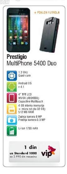 Mobilni Telefon MultiPhone 5400 Duo