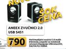 Zvučnici Aneex  2.0  USB S451