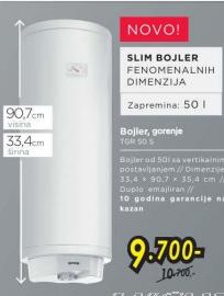 Bojler  TGR 50 s- slim