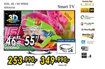 3D SMART TV KDL55W905 + 39 NAOČARE
