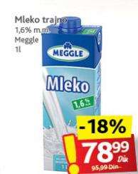 Dugotrajno mleko 1,6% mm