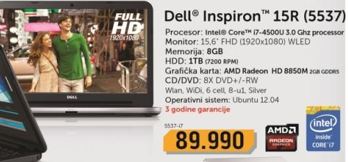 Laptop Inspiron 15R 5537-i7