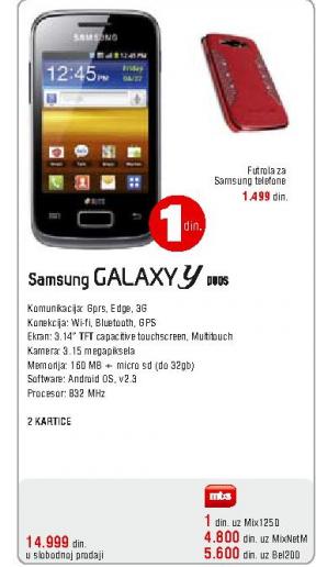 Telefon mobilni Galaxy Y Duos