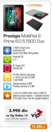 Tablet Multipad 2 Prime 8.0 5780D Duo