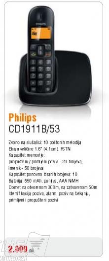 Bežični telefon CD1911B/53