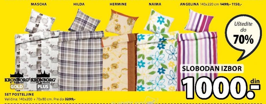 Set posteljine