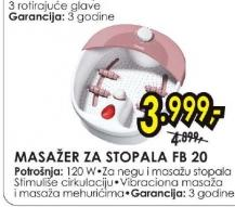 Masažer za stopala FB 20