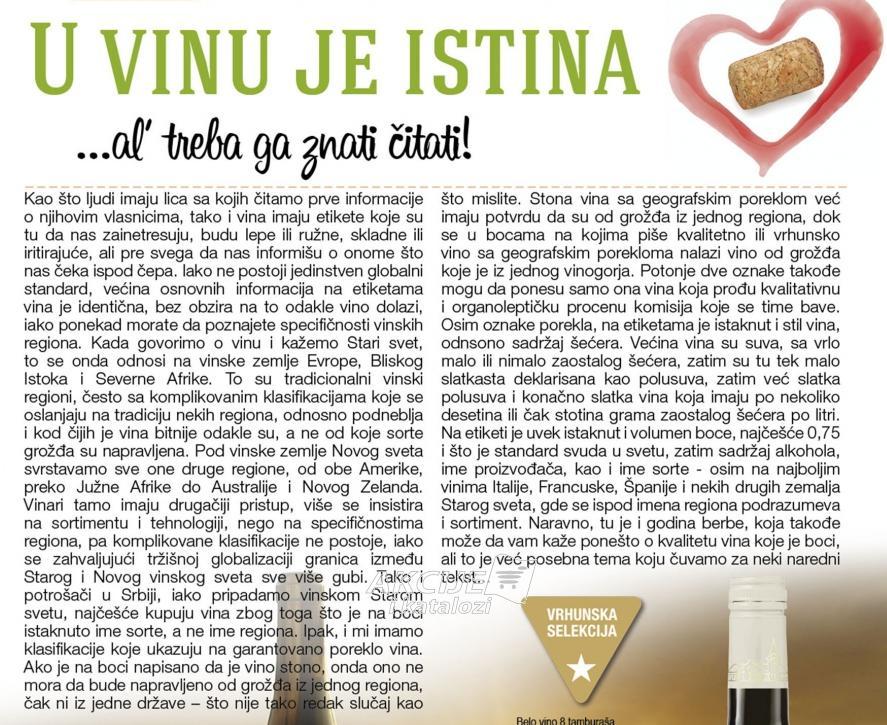 U vinu je istina al treba ga znati čitati!