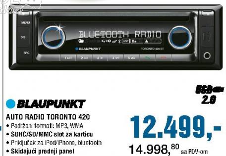 Auto Radio Toronto 420