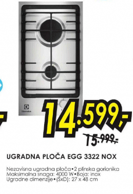 Ugradna ploča EGG 3322 NOX