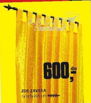 Zavesa Zoe