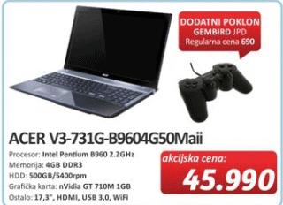 Laptop V3-731G-B9604G50Maii