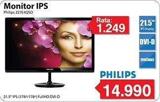 """Monitor LED 21,5"""" IPS 227e4qsd"""