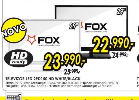 Televizor LED 29D150 WHITE