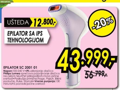 Epilator SC 2001/01