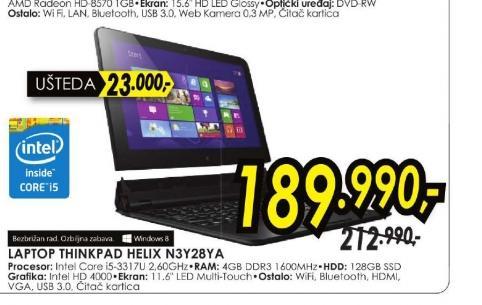 laptop ThinkPad Helix N3Y28YA