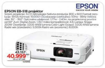 Projektor EB-S18