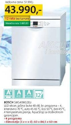 Mašina Za Pranje Sudova Sms40M52EU