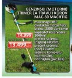 Benzinski trimer za travu MAC-80