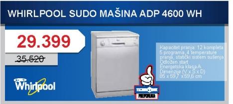 Adp 4600 WH Sudomašina