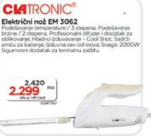 električni nož EM 3062