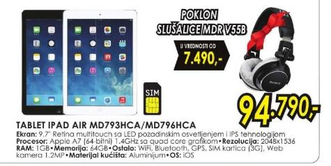 Tablet iPad Air MD793HC/A