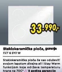 Staklokeramička ugradna ploča ECT6SY2W